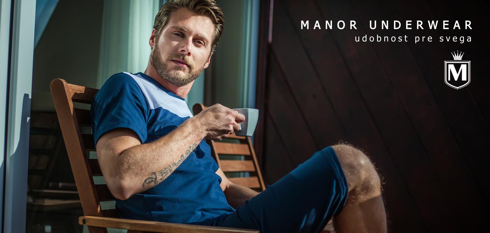 Manor underwear Udobnost muške bermude i majica