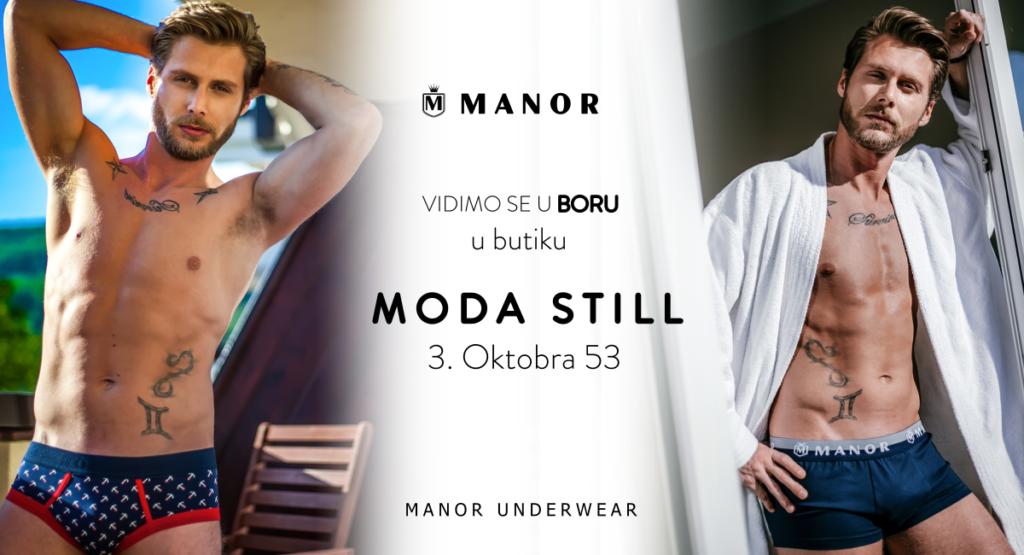 Manor underwear muske bokserice Bor