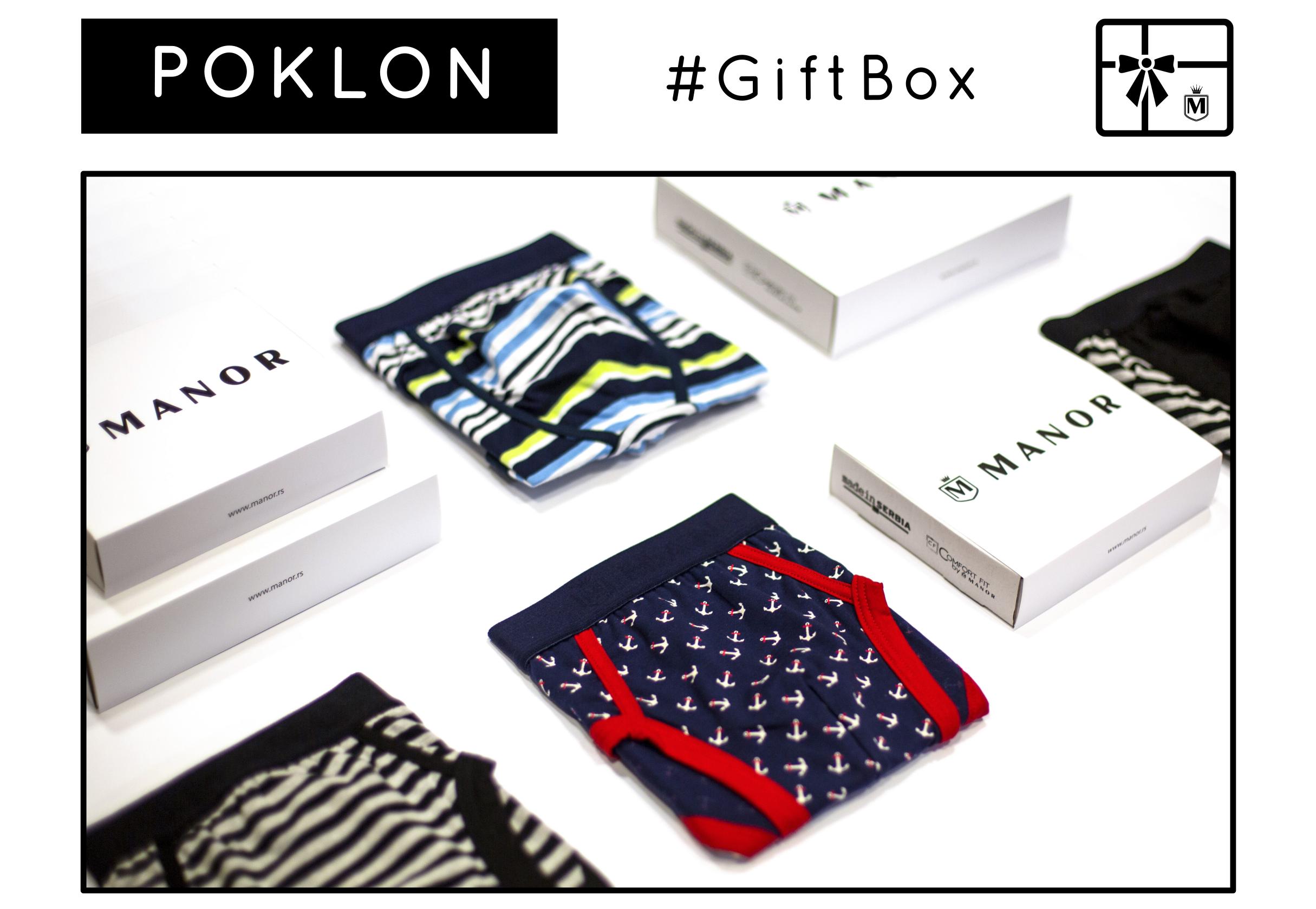 Manor underwear bokserice Giftbox