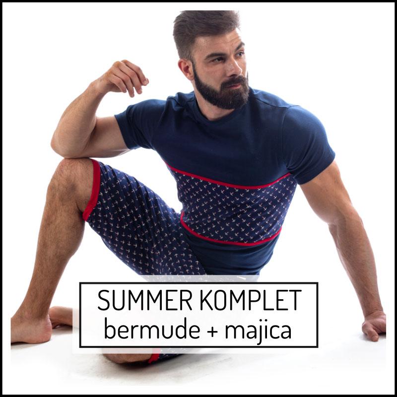 Manor underwear Summer komplet muške bermude i muška majica