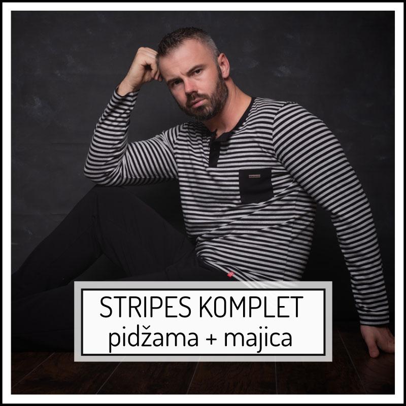 Manor underwear Stripes komplet muška pidžama