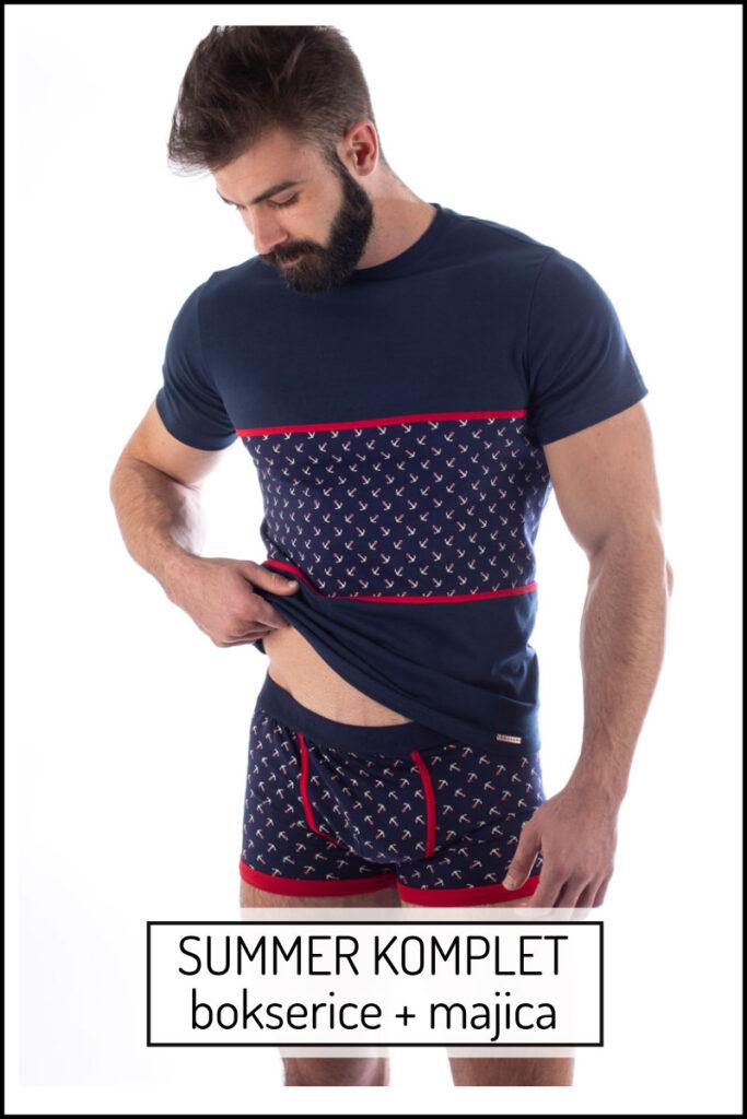 Manor underwear Summer komplet muška majica i muške bokserice