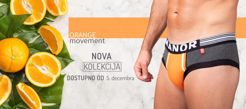 Manor underwear slip Orange Movement kolekcija