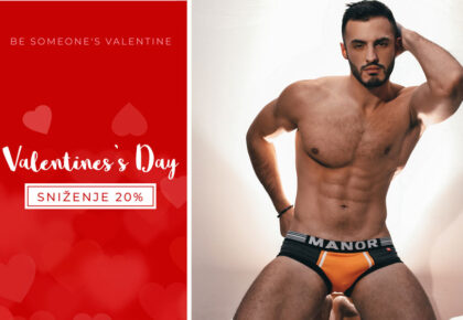 Manor underwear muške bokserice Orange movement kolekcija Dan zaljubljenih
