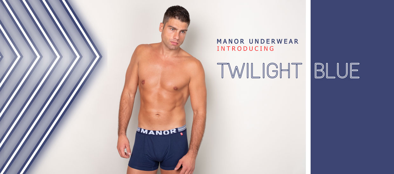 Manor underwear Twilight blue plave bokserice