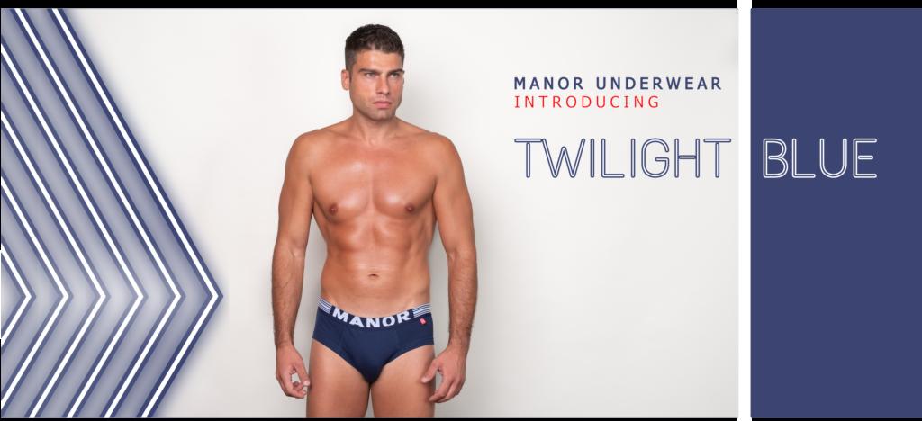 Manor underwear Twilight blue muške bokserice