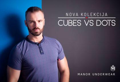 Manor underwear Cubes VS Dots casual muška majica Blog
