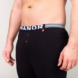 Manor underwear Basic crna pidžama 03