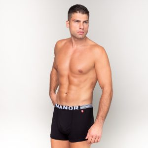 Manor underwear Basic crne bokserice 01