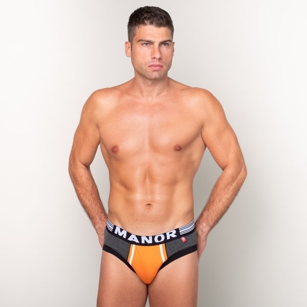 Manor underwear Orange movement sivi slip 01