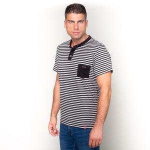 Manor underwear Stripes crna casual majica 01