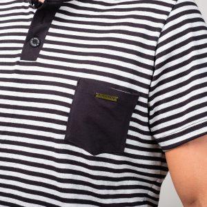 Manor underwear Stripes crna casual majica 02