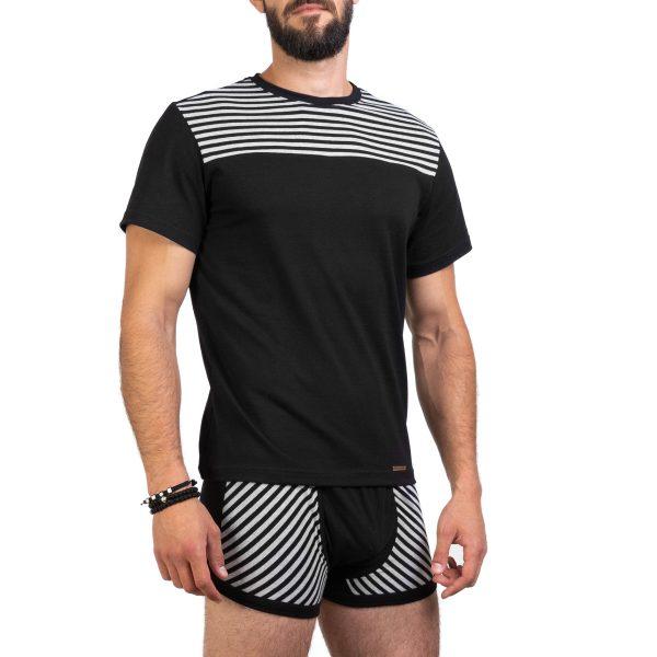 Manor underwear Stripes crne bokserice 03