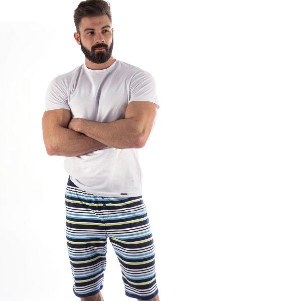 Manor underwear Stripes plave bermude 03
