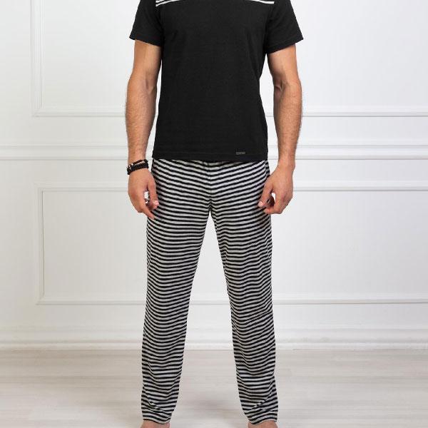 Stripes crna muška pidžama 3