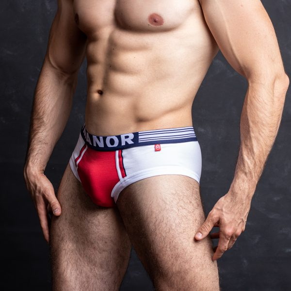 Manor underwear Focus On belo crveni slip 04