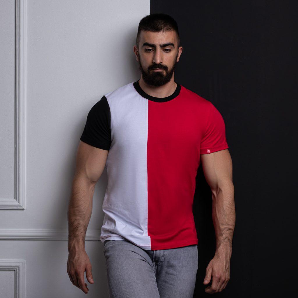 Manor underwear Focus On crveno bela majica 01