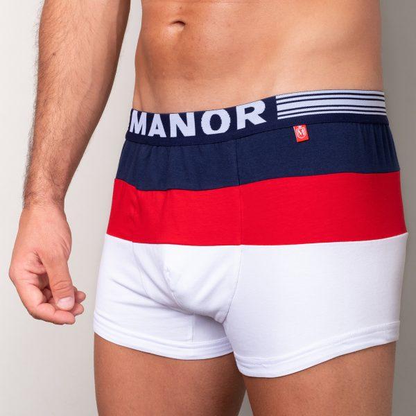 Manor underwear Focus On plavo crveno bele bokserice 02