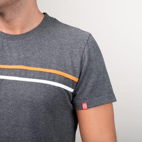 Manor underwear Orange movement siva muška majica 02