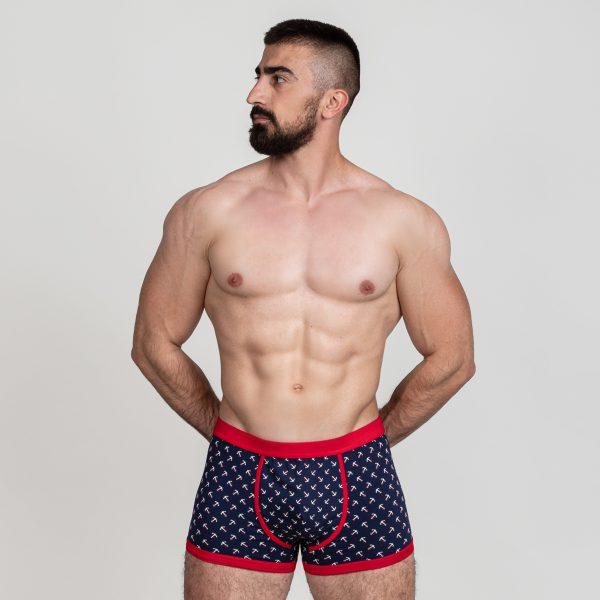Manor underwear REDesigned Anchor plave bokserice 01