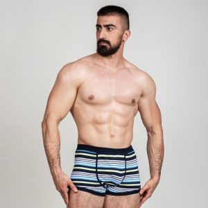 Manor underwear Stripes tamno plave bokserice 01