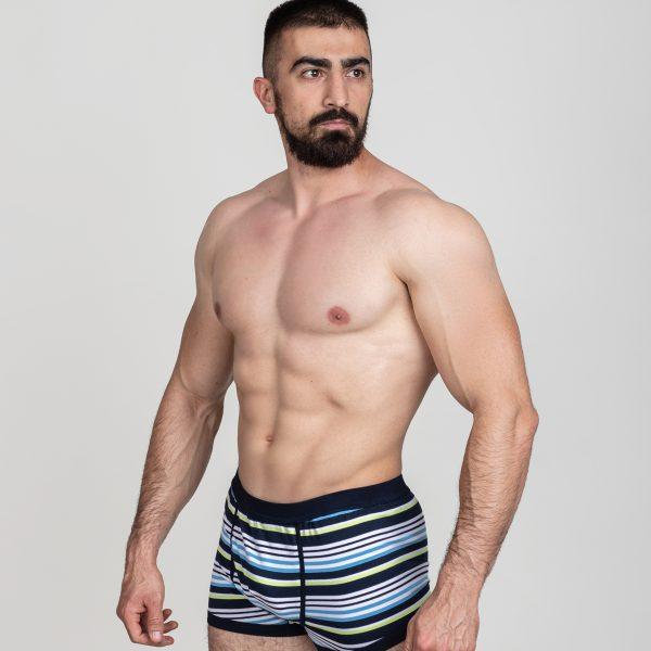 Manor underwear Stripes tamno plave bokserice 02