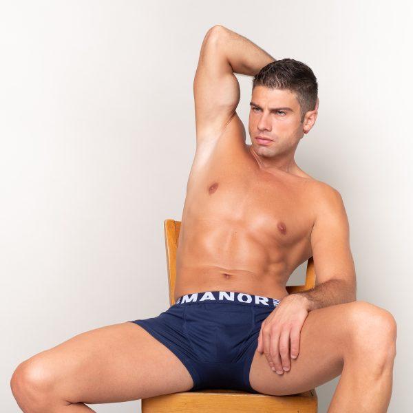 Manor underwear Twilight blue plave muške bokserice 03