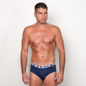 Manor underwear Twilight blue plavi slip 01