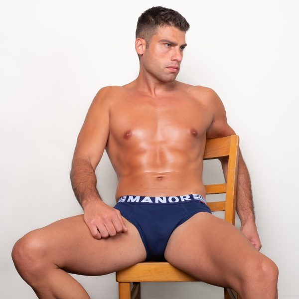 Manor underwear Twilight blue plavi slip 03