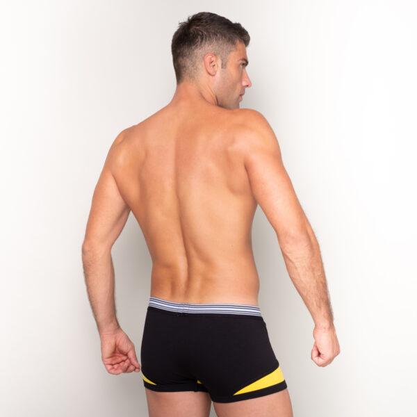 Manor underwear Black optimist crno žute bokserice 2