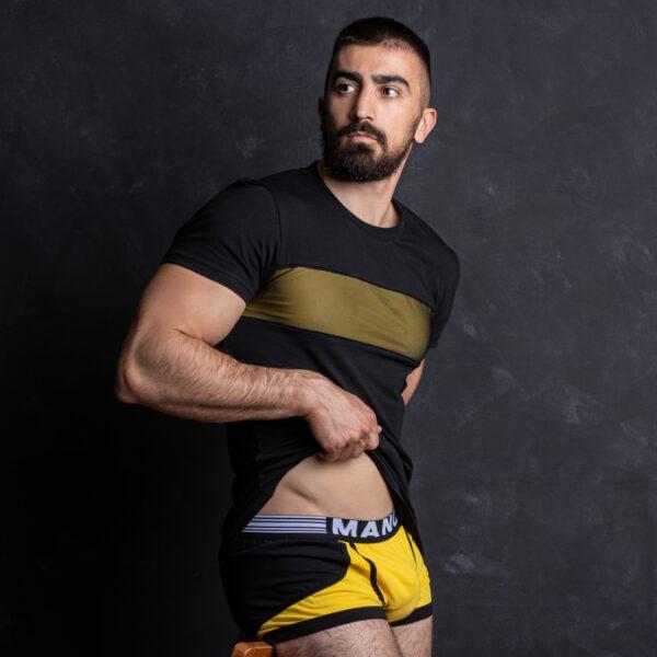 Manor underwear Black optimist crno žute bokserice 5