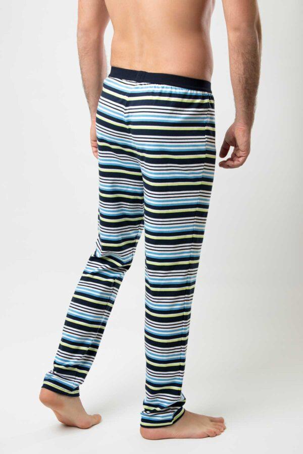 Manor underwear Stripes zeleno plavo bela muška pidžama 3