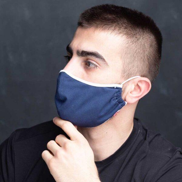 Manor underwear plava pamučna maska