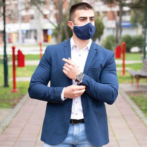 Manor underwear plava pamučna maska 02