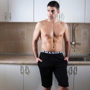 Manor underwear crne muške bermude 5
