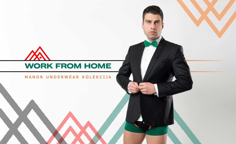 Manor underwear Crno zelene bokserice i slip Work from Home kolekcija
