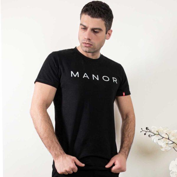 Premium crna muška majica sa printom 1