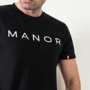 Premium crna muška majica sa printom 2