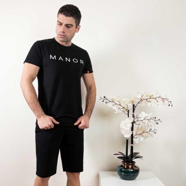 Premium crna muška majica sa printom 3