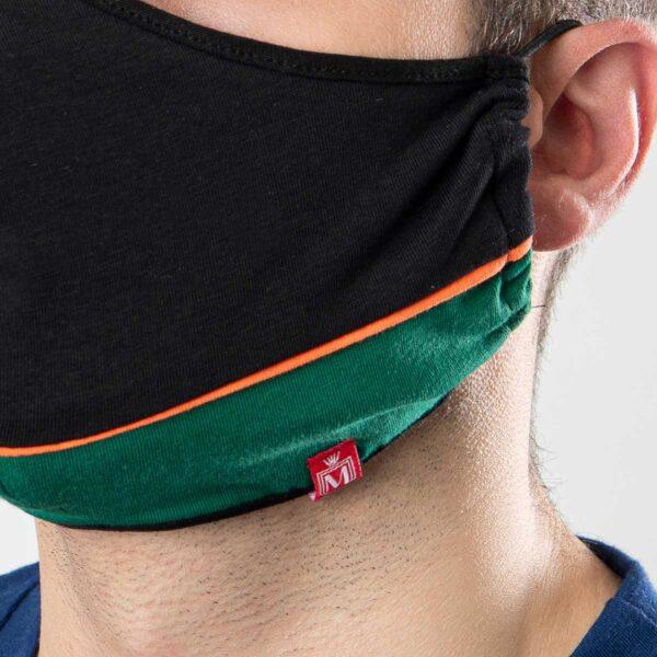 Manor underwear Work From Home crno zelena pamučna maska 2
