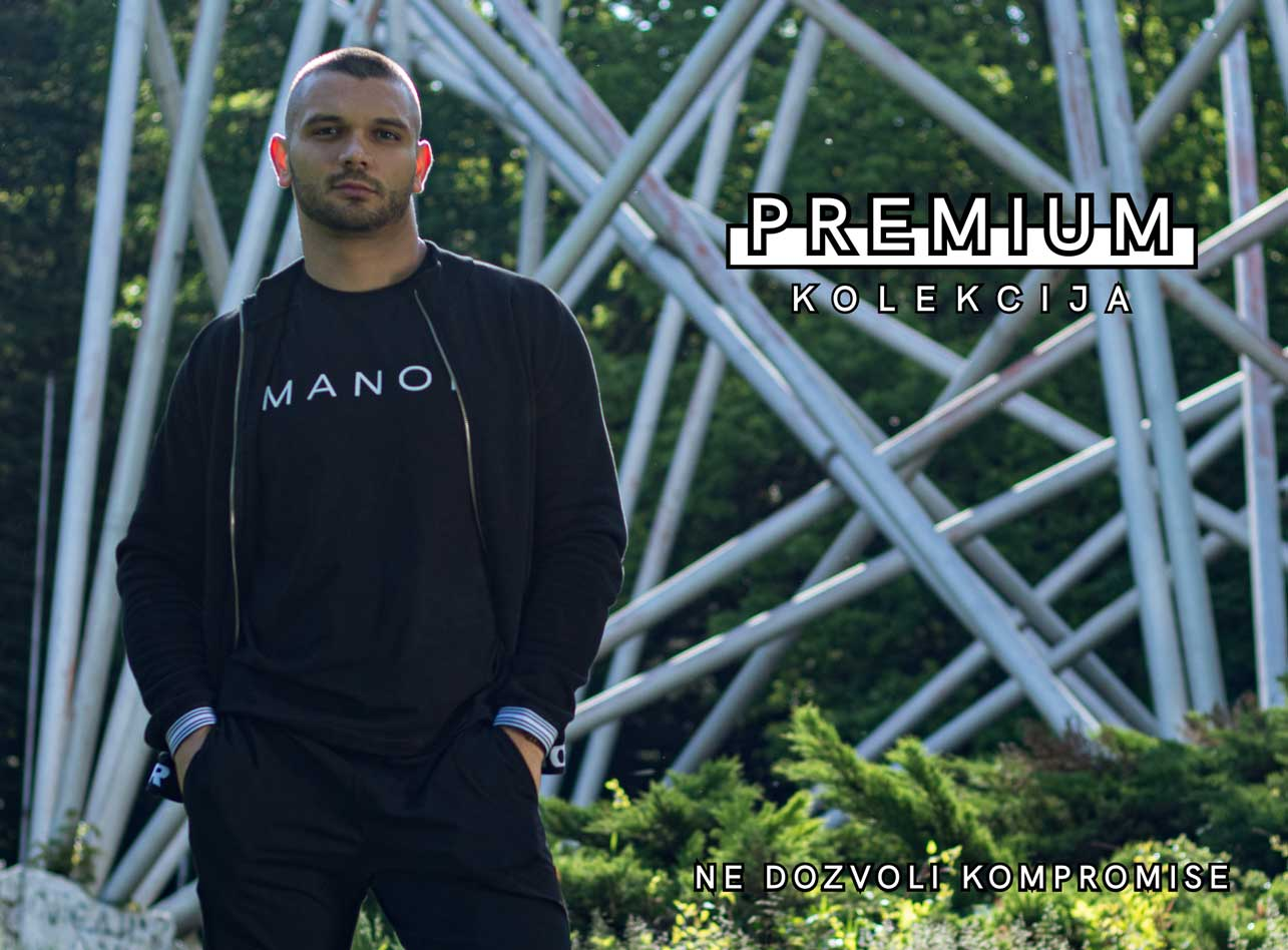 Manor underwear crna dukserica Premium kolekcija mobile