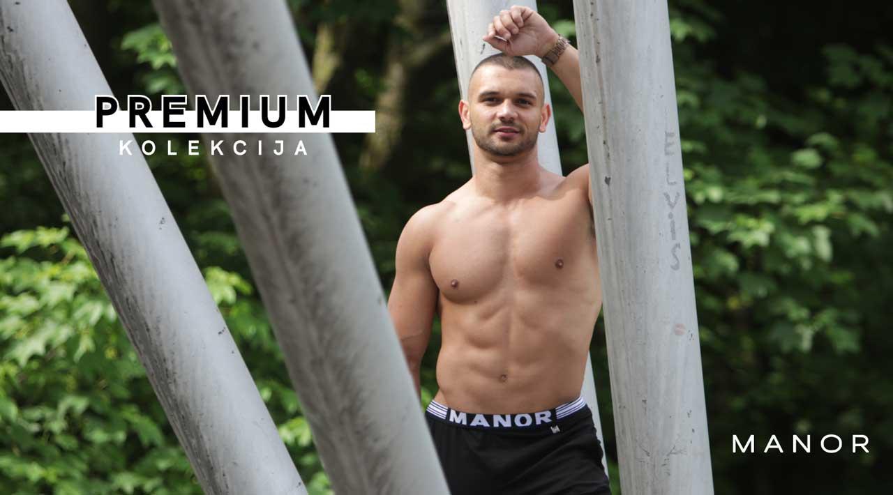 Manor underwear crne bermude Premium kolekcija