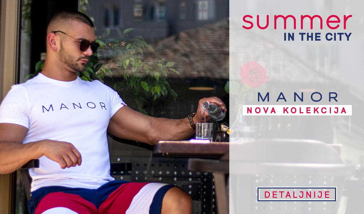 Manor underwear muška majica i bermude Summer in the city