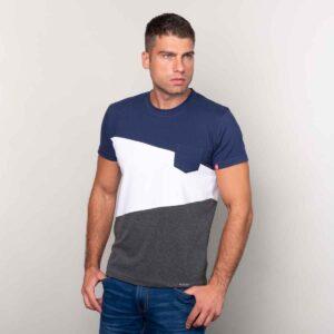 Twilight blue plavo belo siva muška majica 01
