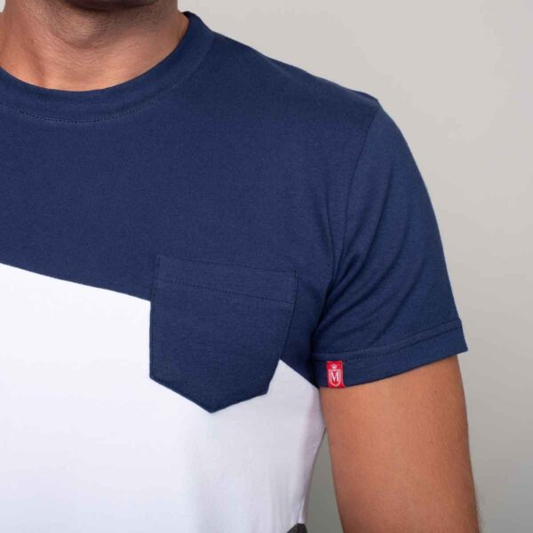 Twilight blue plavo belo siva muška majica 02