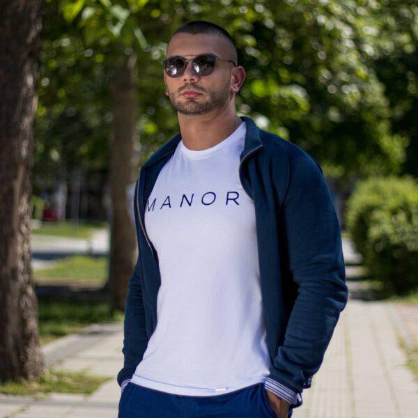 Bela muška majica sa printom 3