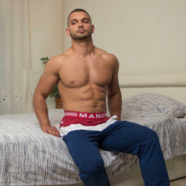 Crveno plava muška pidžama 5
