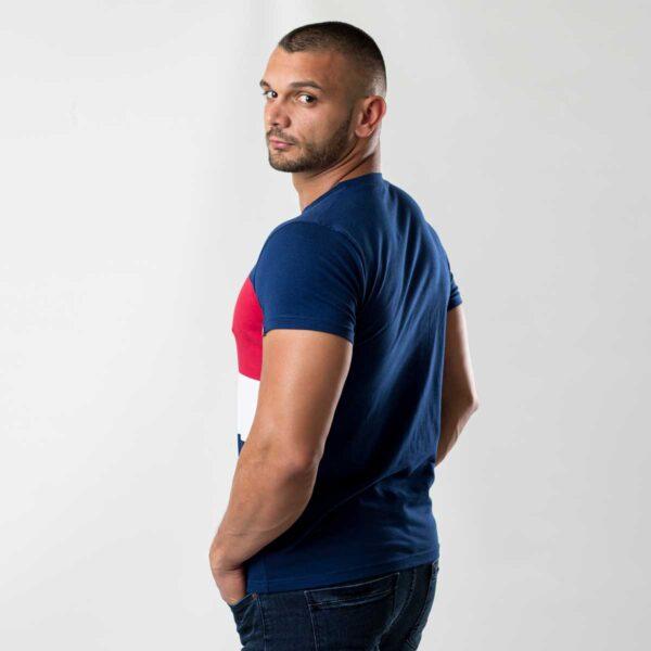 Plava muška majica sa prugama 3