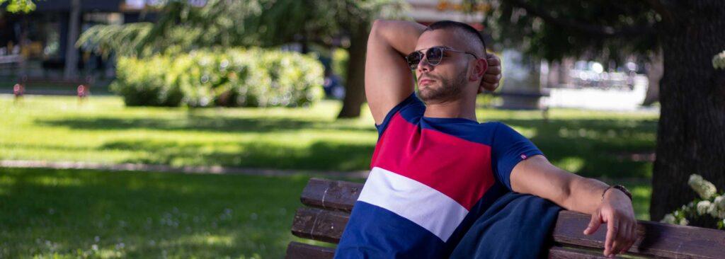 Manor underwear Summer in the city kolekcija plava majica