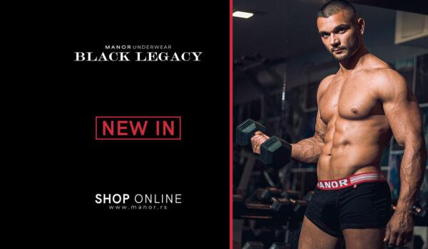 Manor underwear crne bokserice Black lagacy Naslovna